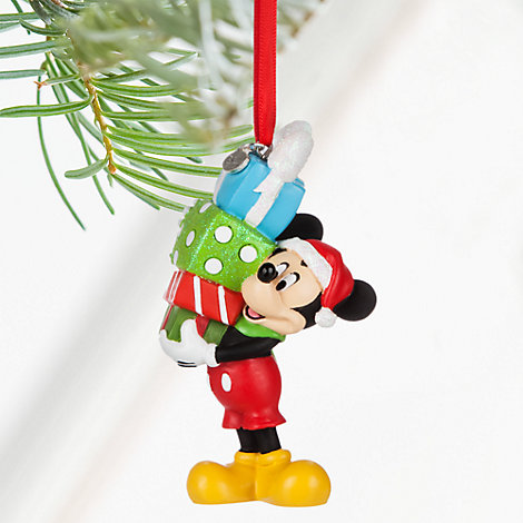 Mickey mouse with presents christmas decoration for Decoration noel mickey