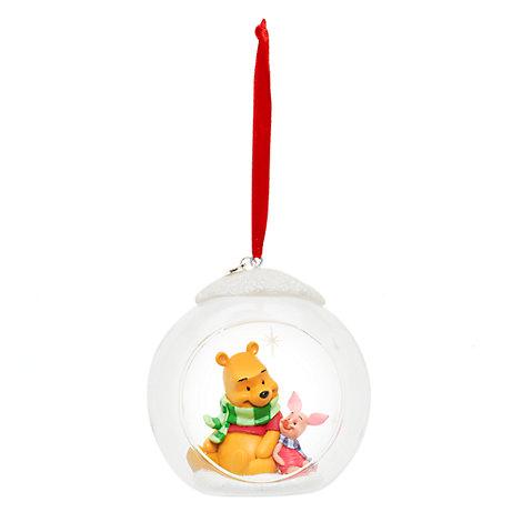 Palla di vetro natalizia aperta Winnie the Pooh