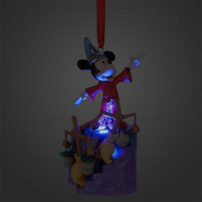 Décoration de Noël lumineuse Mickey Mouse l'Apprenti Sorcier