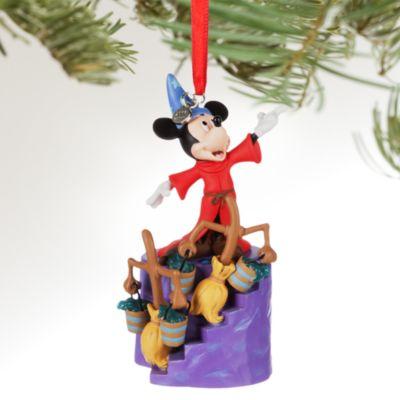 Decorazione natalizia luminosa Topolino Apprendista Stregone