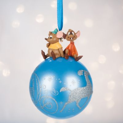 Gus and Jaq Globe Christmas Decoration