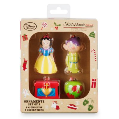 Snow White Christmas Decorations, Set of 4