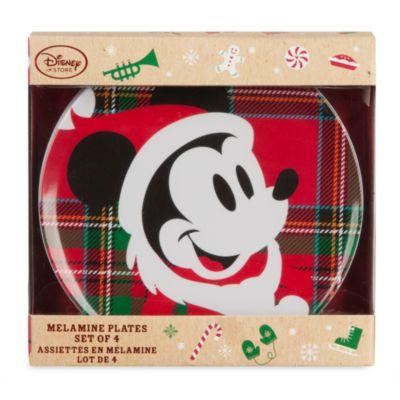 Ensemble de 4 assiettes en m lamine mickey mouse et ses amis - Mickey mouse et ses amis ...