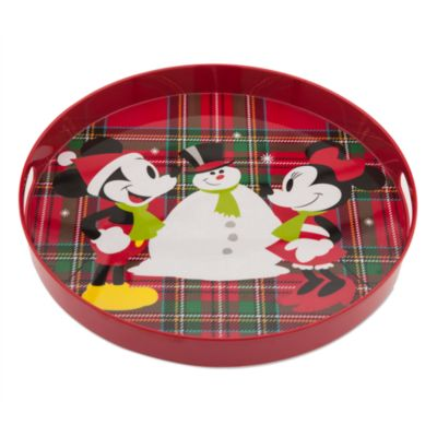 Mickey and Minnie Mouse Festive Melamine Tray
