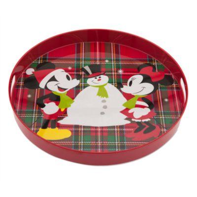 Bandeja de melamina Navidad Minnie y Mickey Mouse