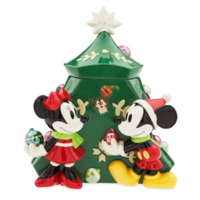 Boîte à biscuits de Noël Mickey et Minnie Mouse