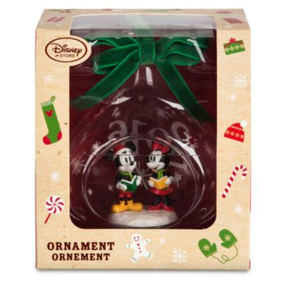 Mickey and Minnie Mouse Christmas Hanging Bauble