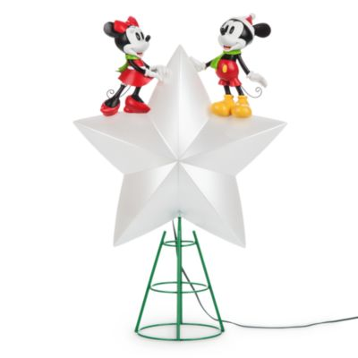 Mickey And Minnie Mouse Light Up Christmas Tree Topper