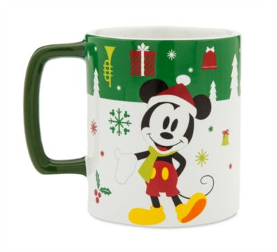 Taza navideña con soporte para galletas Mickey Mouse