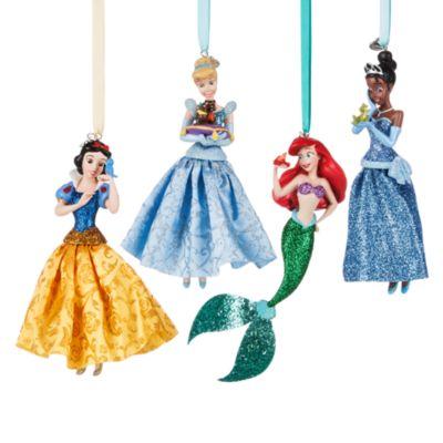 Addobbi natalizi Principesse Disney, set di 10