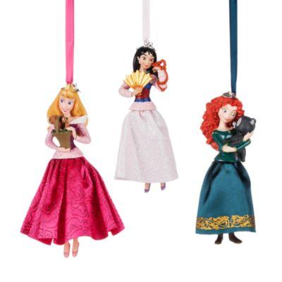 Disney Princess Christmas Ornaments, Set of 10