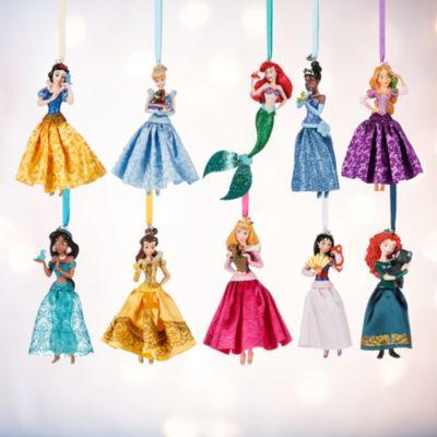 Adornos navideños de princesas Disney, set de 10
