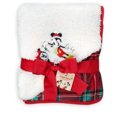 Mickey And Minnie Mouse Festive Throw Rug