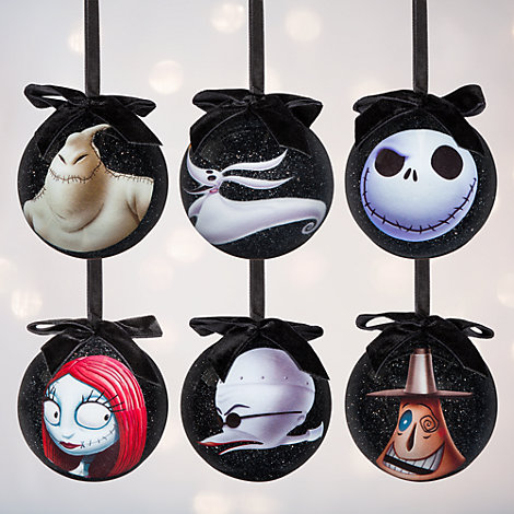 The Nightmare Before Christmas julkulor, set med 6