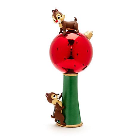 Chip og Chap toppynt med lys til juletræ