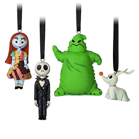 The Nightmare Before Christmas Hanging Ornaments, Set of 4