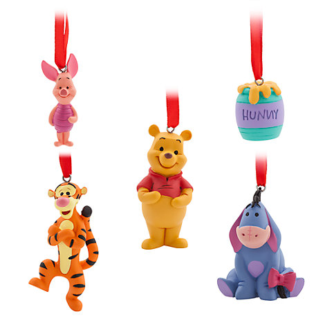 Winnie the Pooh Hanging Ornaments, Set of 5
