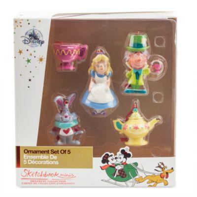 Alice im Wunderland - Hängende Dekorationsstücke, 5er-Set