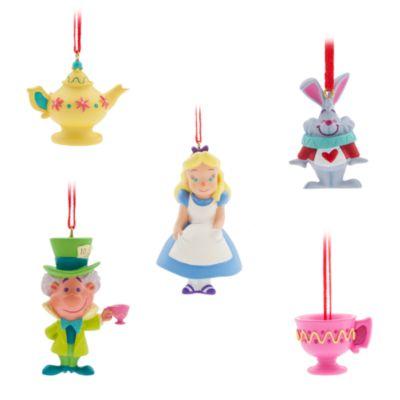 Alice i Underlandet hängande ornament, 5 st