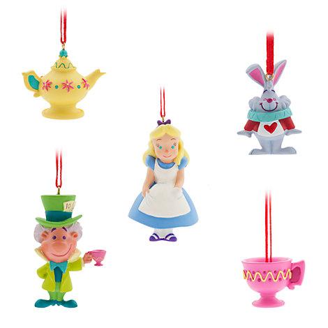 Alice in Wonderland Hanging Ornaments, Set of 5