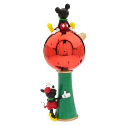 Micky und Minnie Maus - Weihnachtsbaumspitze mit Lichtfunktion