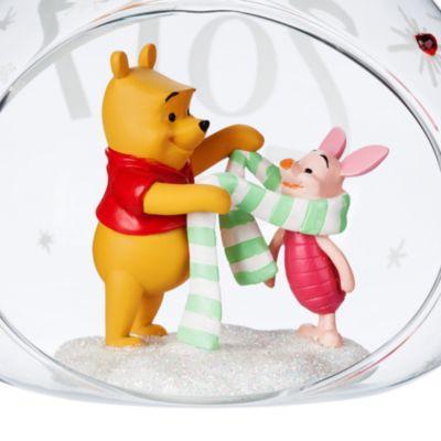 Peter Plys og Grisling julepynt med åben kugle