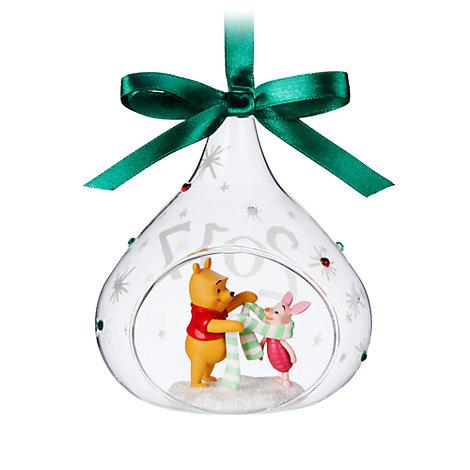 Winnie Puuh und Ferkel - Weihnachtliches Dekorationsstück mit Öffnung