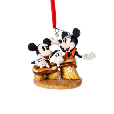 Mickey og Minnie Hawaii julepynt til ophæng