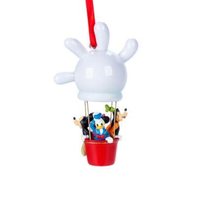 Adorno colgante de Mickey Mouse y sus amigos en un globo aerostático.