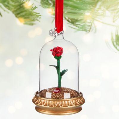 Décoration de Noël Rose, La Belle et la Bête