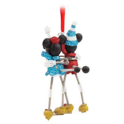 Décoration à suspendre Mickey et Minnie en patins à glace
