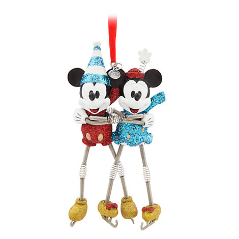 Mickey and Minnie Skating Hanging Ornament