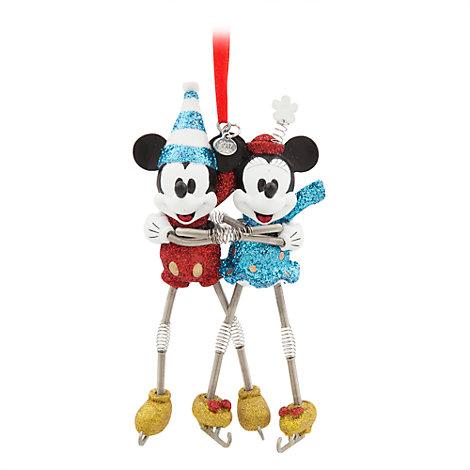 Mickey og Minnie på skøjter julepynt til ophæng