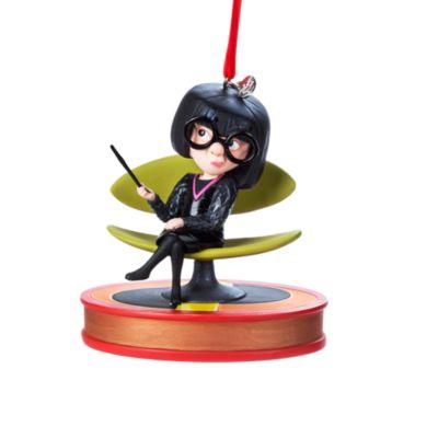 Edna Mode pratande hängande ornament, Superhjältarna