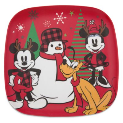 Mickey and Minnie Share the Magic Plates, Set of 4