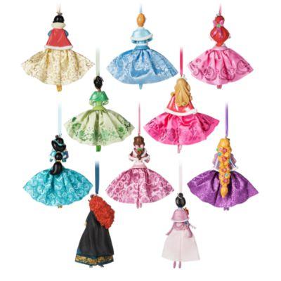 Set adornos Navidad princesas Disney