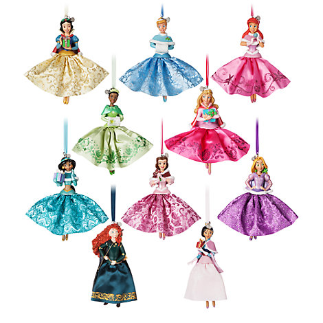 Disney Princess Festive Ornament Set