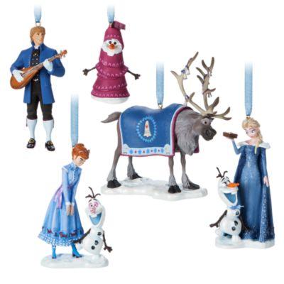 Olaf taut auf - Hängende Dekorationsstücke, 5er-Set