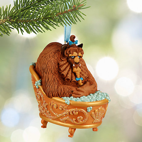 Bathing Beast Hanging Ornament, Beauty and the Beast