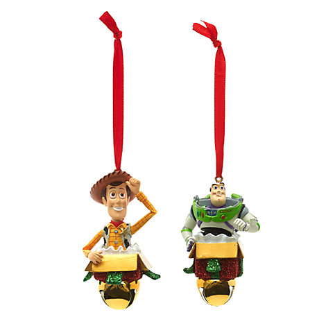 Buzz and Woody Festive Hanging Ornaments, Set of 2