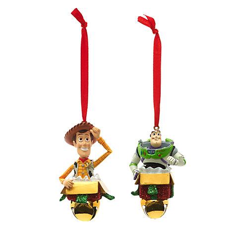 Buzz Lightyear og Woody julepynt til ophæng, sæt med 2 stk.