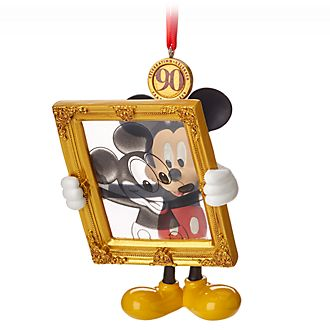 Disney Store Mickey Mouse 90th Anniversary Hanging Ornament