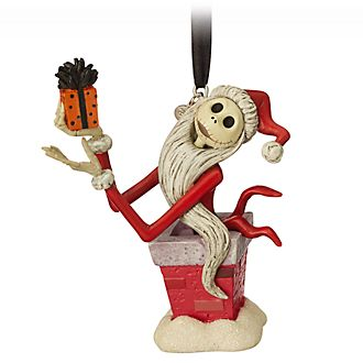 Disney Store Jack Skellington Festive Hanging Ornament