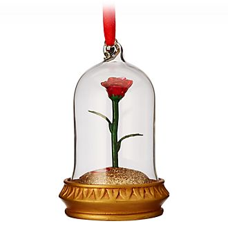 Ornament luminoso da appendere Rosa incantata Disney Store