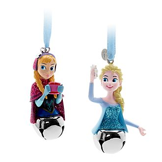 Disney Store Anna and Elsa Hanging Ornaments