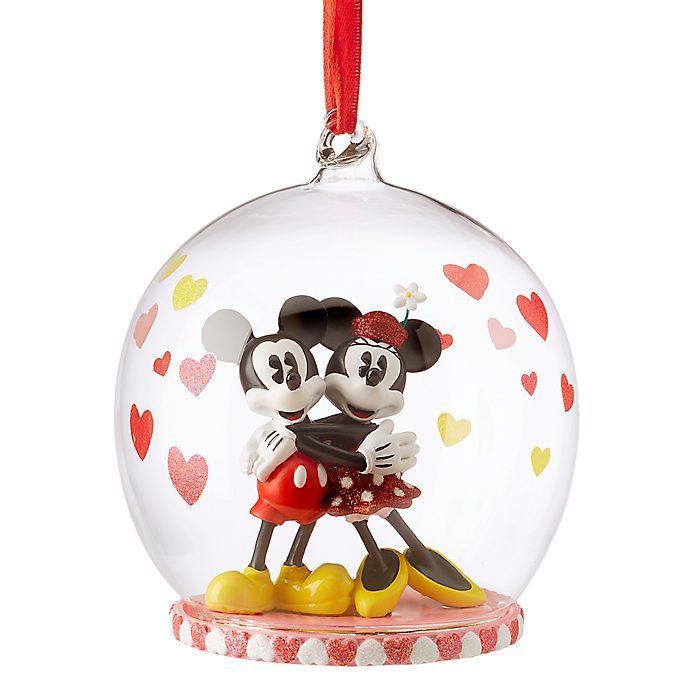 Adorno colgante minnie y mickey mouse enamorados disney store altavistaventures Choice Image