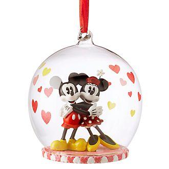 Disney Store Objet décoratif à suspendre Mickey et Minnie Mouse amoureux
