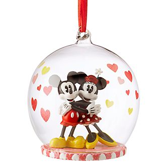 Disney Store Mickey and Minnie Mouse Love Hanging Ornament