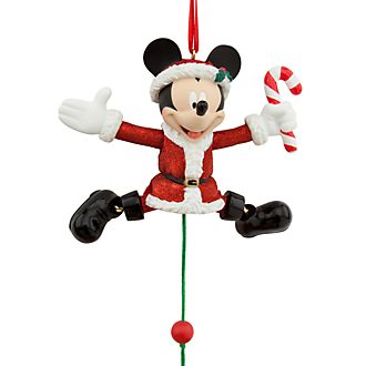 Disney Store Mickey Mouse Festive Hanging Ornament