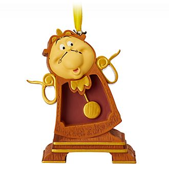 Disney Store Cogsworth Hanging Ornament, Beauty and the Beast